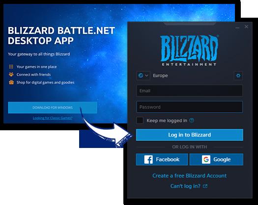 Download / Install / Launch Battle.net